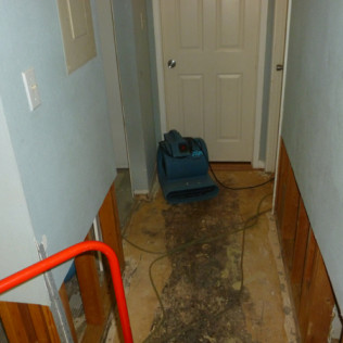 House that experienced water damaged