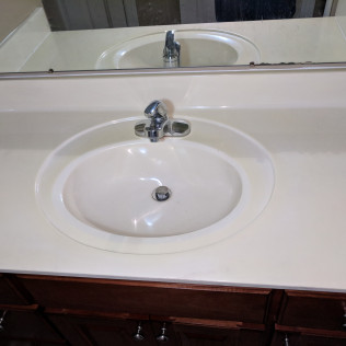 Sink and counter top cleaning after a fire